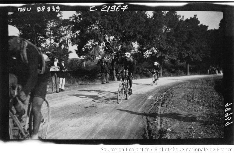 étape Perpignan - Toulon  avant Nimes 1922