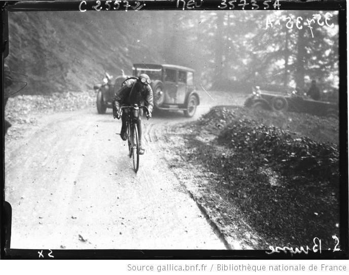 Bayonne Luchon 1926 Lucien Buysse dans le col de l'Aubisque