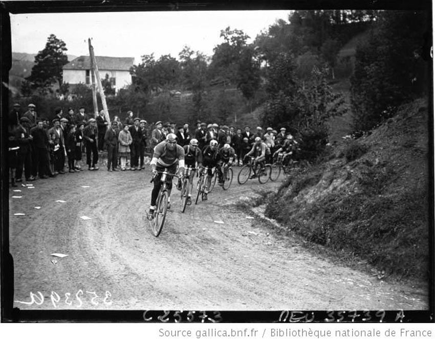 Luchon-Perpignan 1926 passage dans le col de Port, Staudaerts, Buysse et Cuvelier