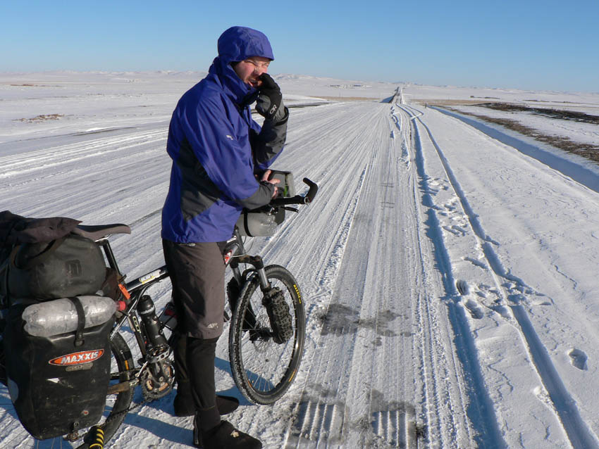 Snow, freezing temperatures and thousands of kilometres to go