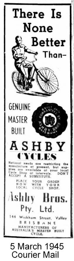 Ashby Cycles Brisbane