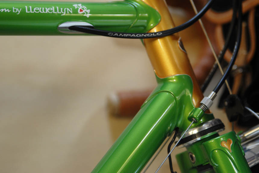 Cable routing detail llewellyn bikes