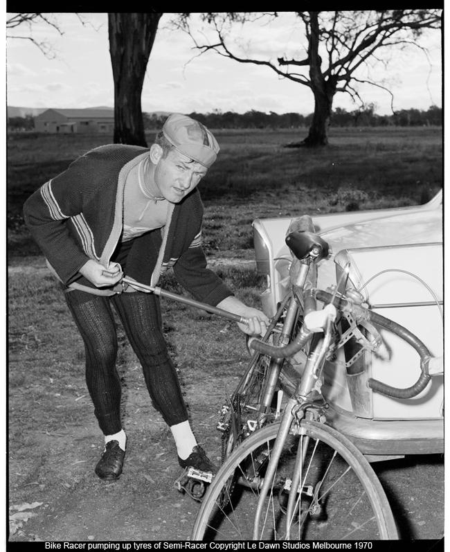 Semi Racer rider 1970