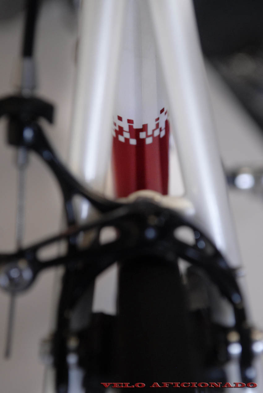 Red on white paint by Joe Cosgrove Cycle Design