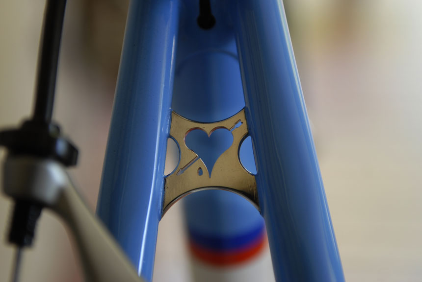 Darrell's signature seat stay bridge, blood sweat and tears deliver a bike made with care and love.