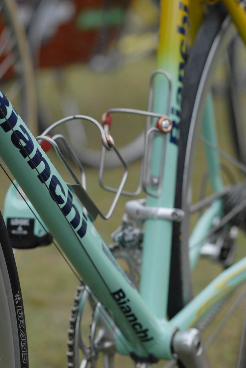 Bianchi Celeste on black and yellow