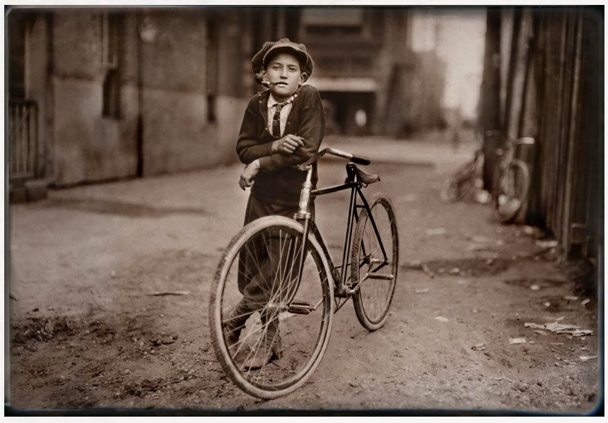 "Messenger boy working for Mackay Telegraph Company.  Waco, Texas      ""Said fifteen years old. Exposed to Red Light dangers.""  September 1913"