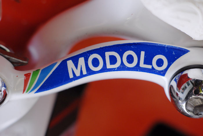 Modolo Max brakes with their distinctive graphics.