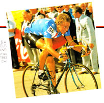 Greg Lemond winning the world championship road race at Altenrhien in 1983 using Modolo brakes.