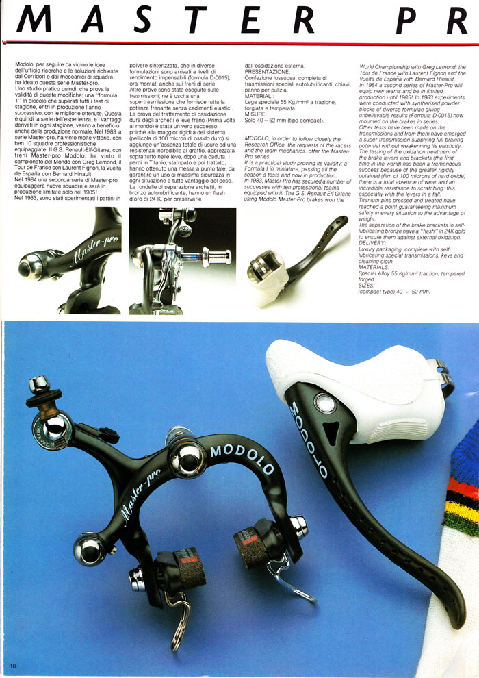 Modolo Master Pro brakes top of the range
