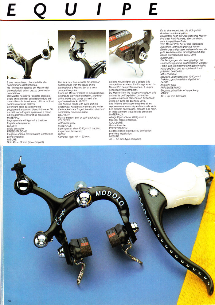 Modolo Equipe brakes made to perform at competitive price