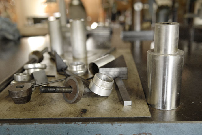 Lllewellyn Custom Bikes tools of the trade.