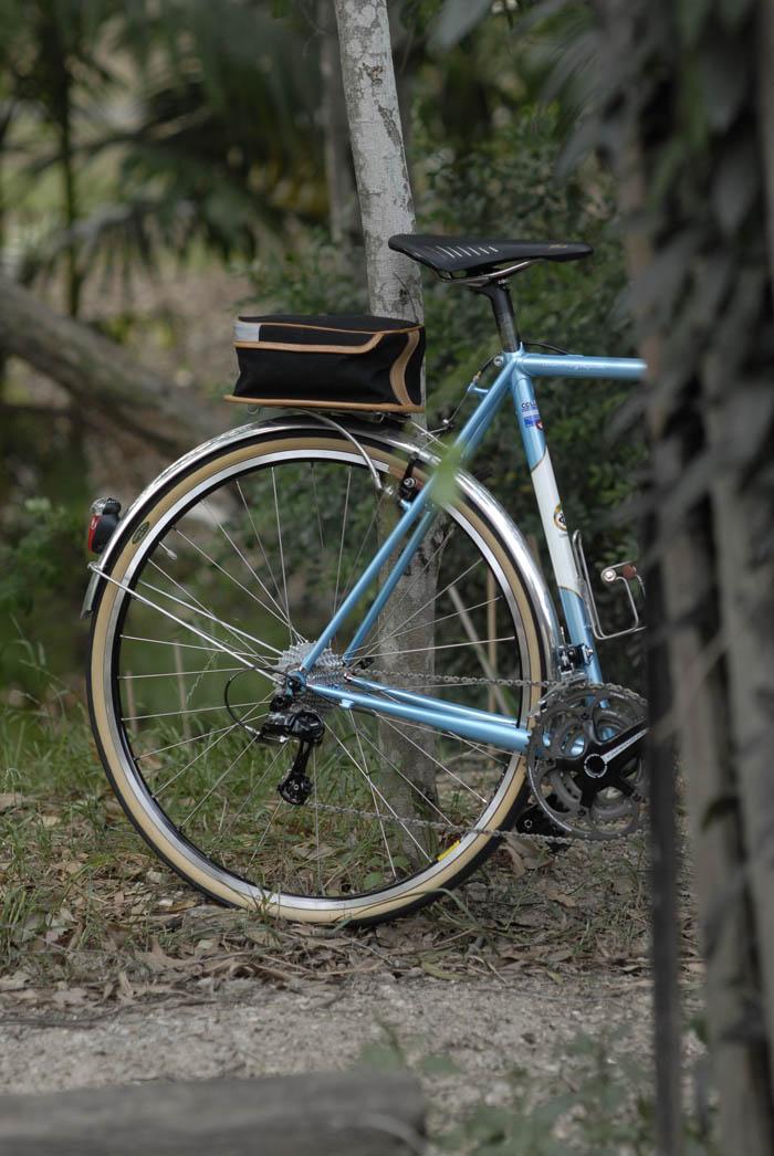 Rear quarter, Darrell McCulloch Llewellyn Bikes 2014 Randonneur Voyageur