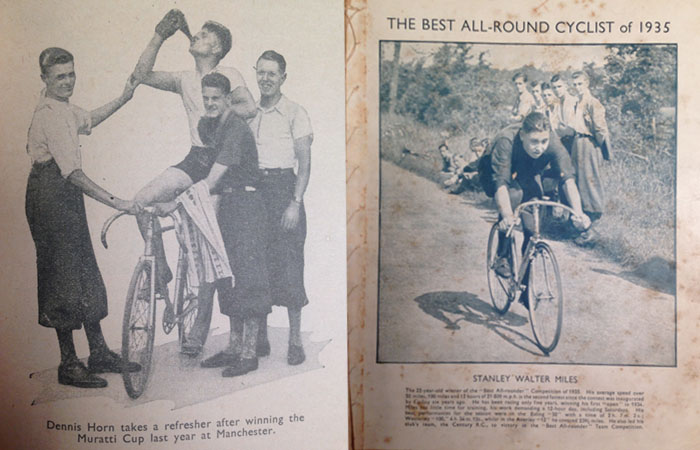 Typical English cycling images from the 1930's that fuelled Arthur's cycling visions.