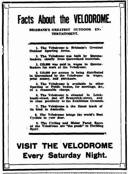 Brisbane Velodrome Facts
