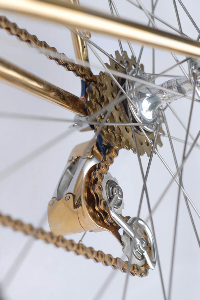 Ital Cicli Systems gold plated C Record Rear Derailleur - FREEWHEEL GIPIEMME CRONO SPRINT ORO 6S 13-21