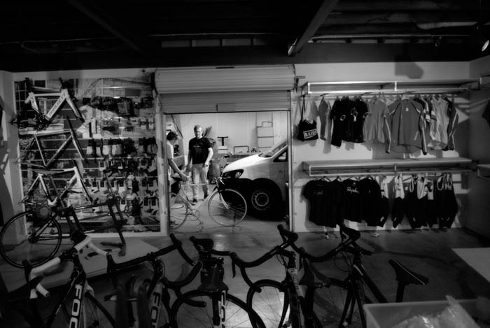 Bikes were flying in the door of Crankstar Bespoke all afternoon