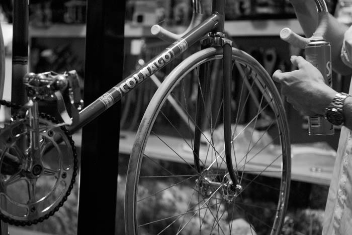 Polishing the 1960's Colnago Pista