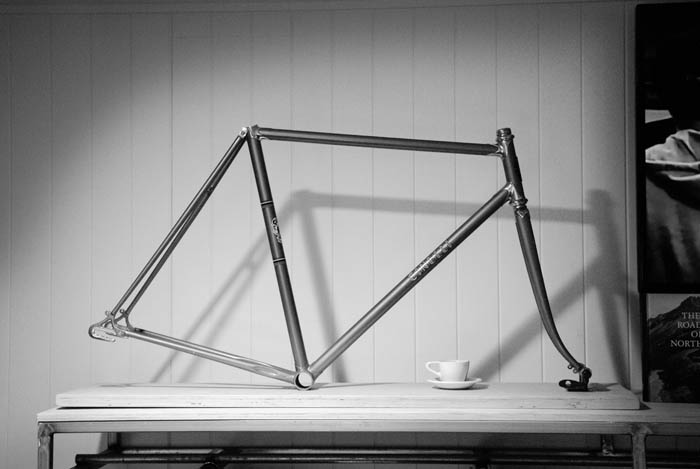 Early Cinelli strada frame with Campagnolo Cambio Corsa dropouts