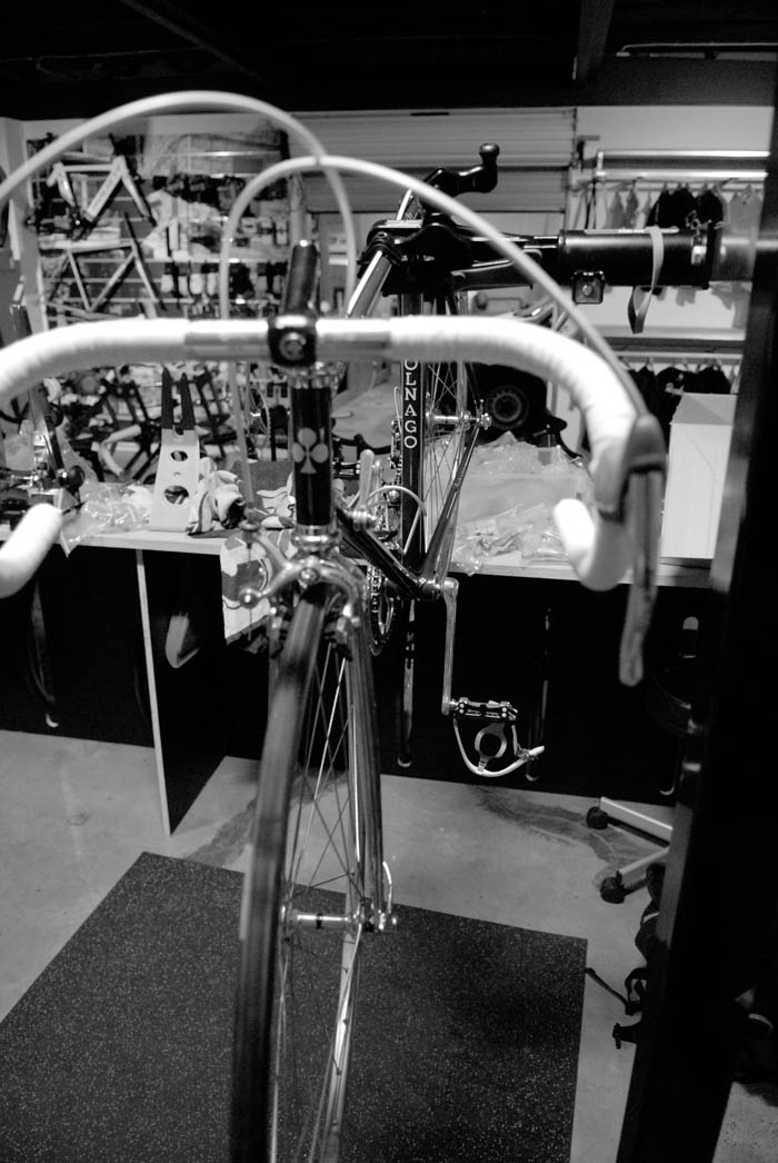 Colnago in the stand at Crankstar Bespoke