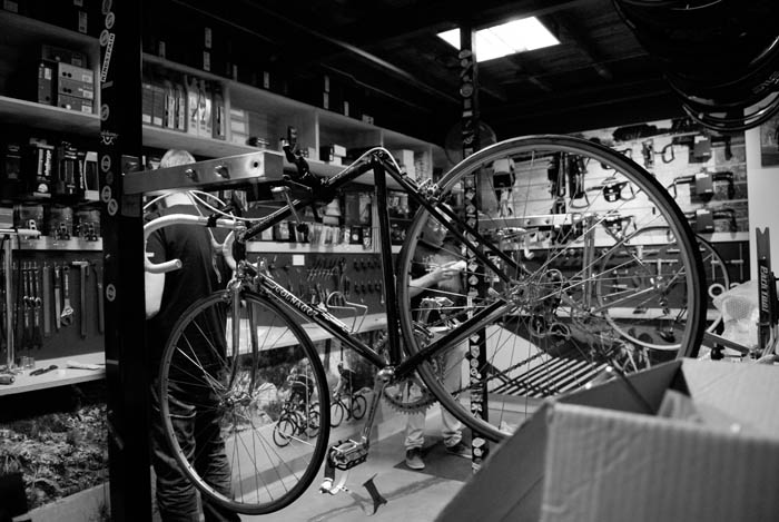 Not long to go and we were still building up bikes