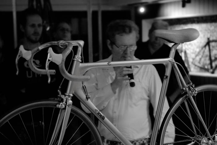 Greg Softley and his Cinelli Laser