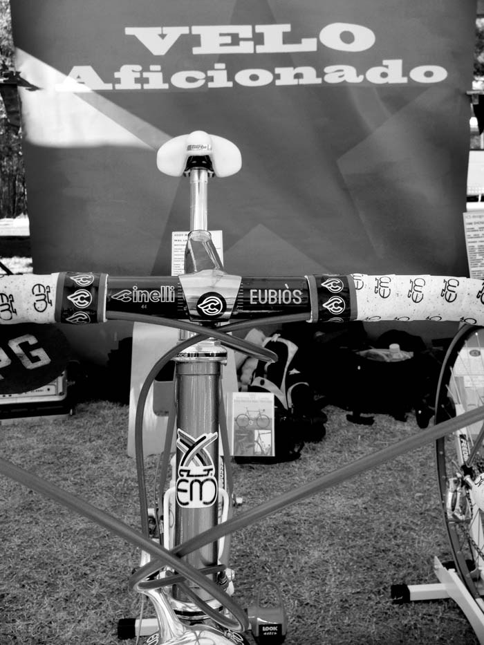 The Velo Aficionado bike display, Ben Smith's Motorola Eddy Merckx MX Leader