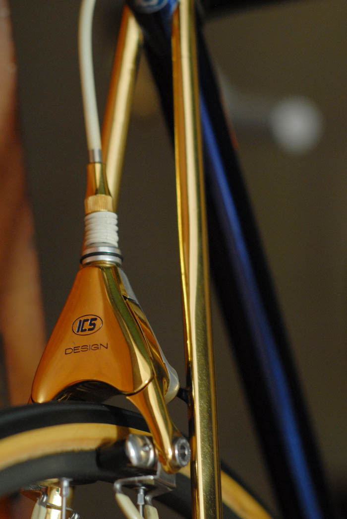 ICS gold plated delta Campagnolo brake