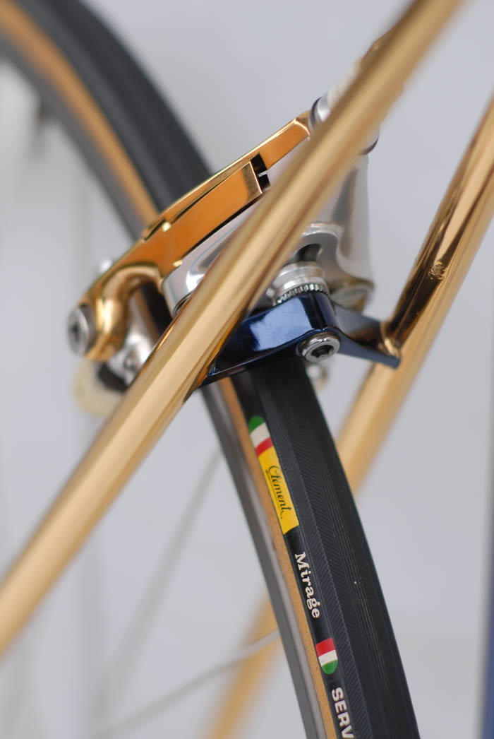 Silva brake bridge, classic mid to late 80's Italian frame design.