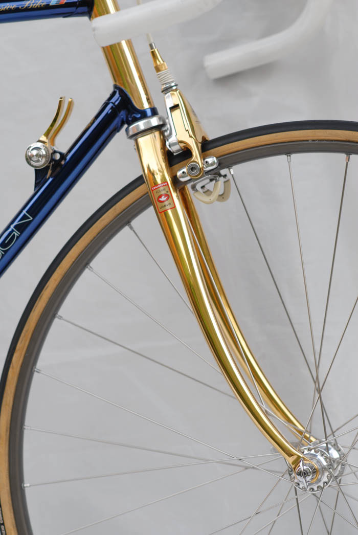 Gold plated ICS columbus SLX forks.