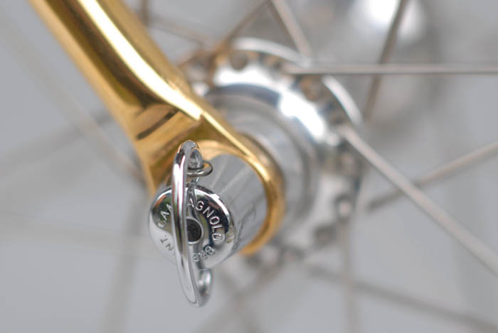 Gold plated dropouts Ital Cicli Systems.