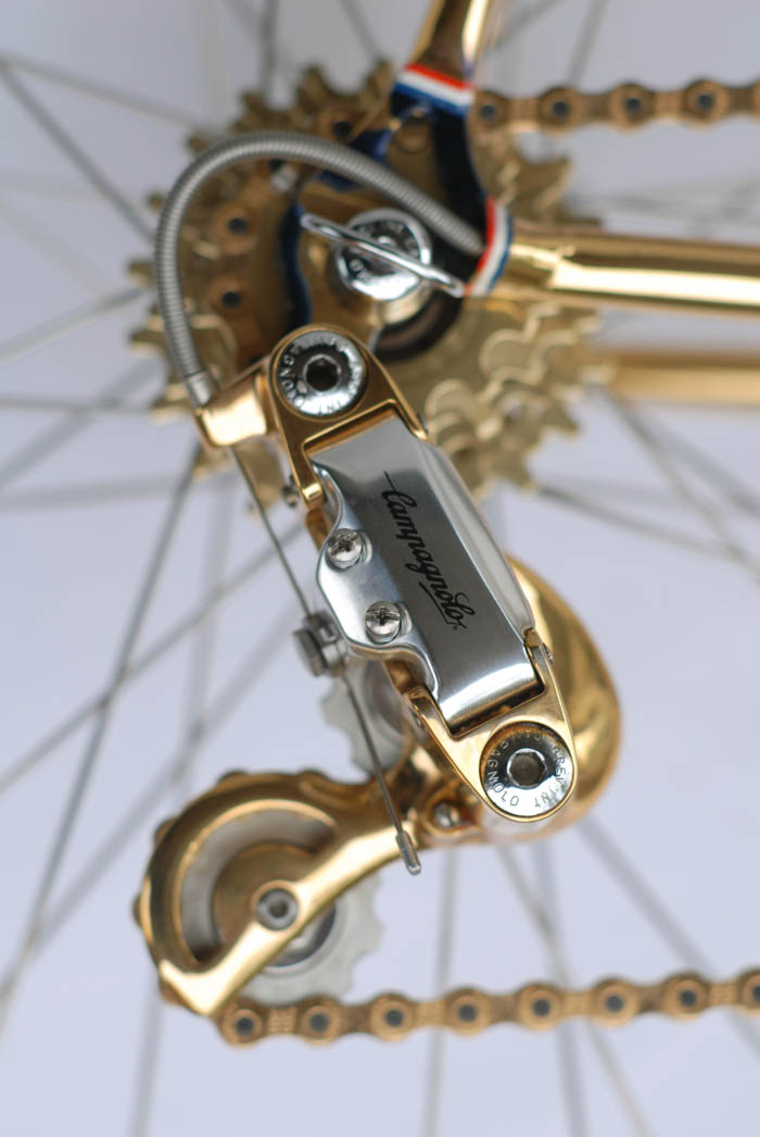 Campagnolo Corsa record 2nd gen rear derailleur gold plated