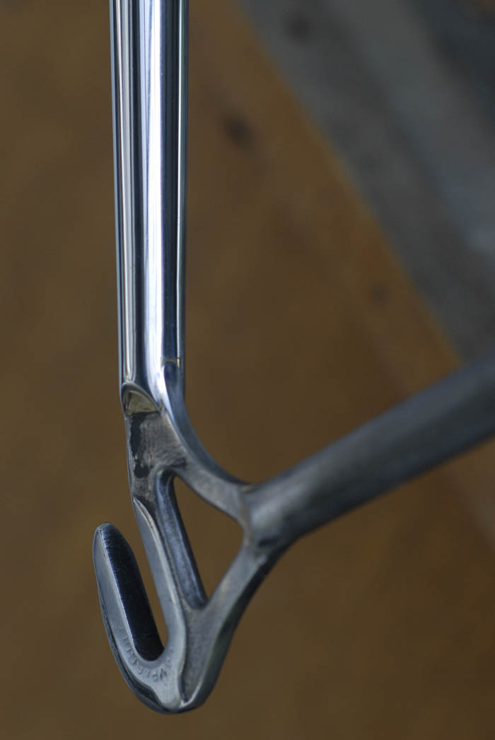 This is the end result which we took to the plating firm, for chrome plating our Bianchi X4.