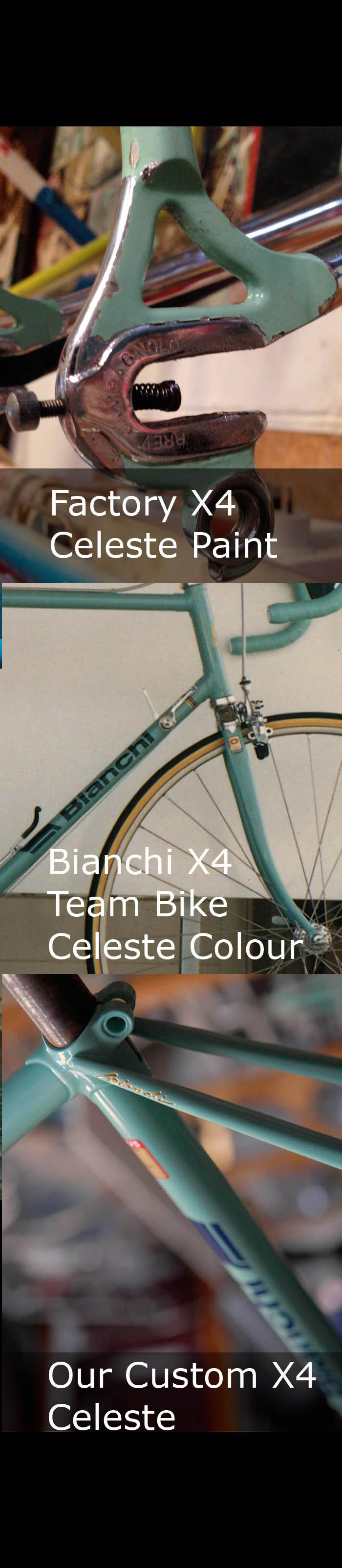 Bianchi X4 Celeste Colour Match