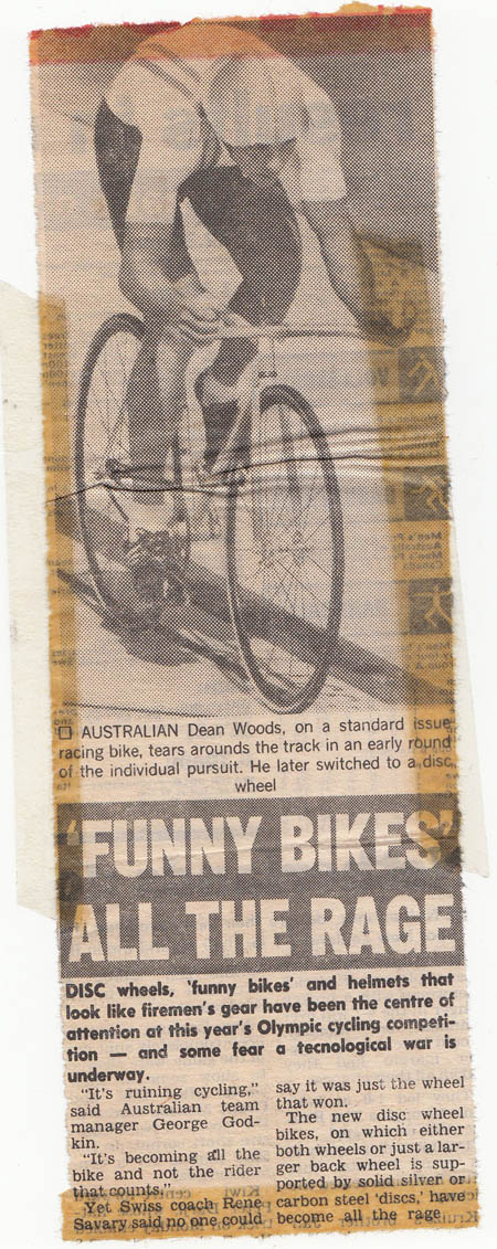 Funny Bikes were the new thing for going fast in time trials on velodromes and the road.