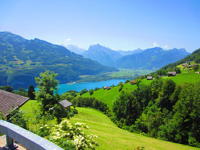 Some of the crisp Swiss scenery.