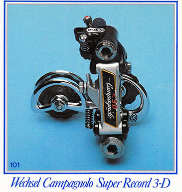 ICS tuned and re-designed Campagnolo Super Record 3-D rear derailleur