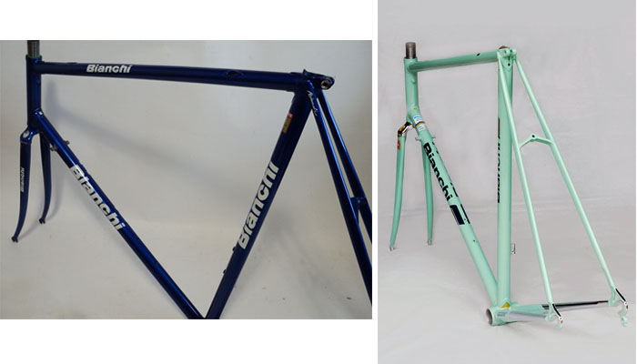 Celeste and chrome Bianchi X4