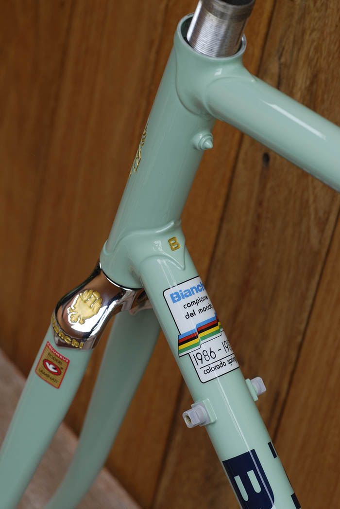 Campione del Mondo 1986 - 1987, Moreno Argentin won the UCI Pro world championship at Colorado Springs. By late 1986 Bianchi X4's were sold with this decal.