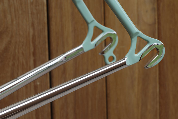 Triple chrome plating and celeste paint on our Bianchi X4.