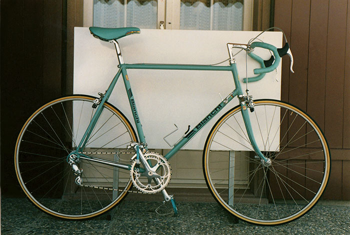 The 1987 Bianchi X4 Team Bike which we set out to emulate.