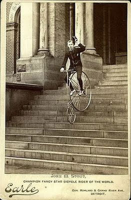 John Stout on an American Star Bicycle