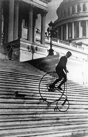 Will Robertson on an American Star Bicycle