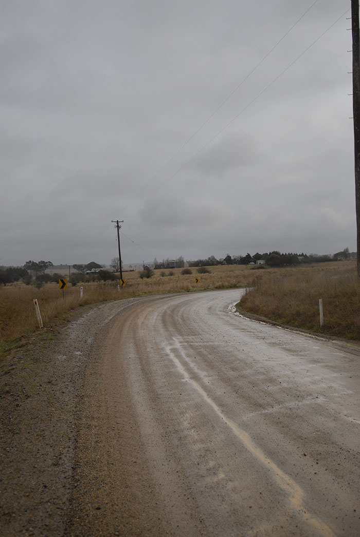 The bend at the end of Platform road, there are plenty of local roads around Armidale like this, for the gravel grinding cyclist.