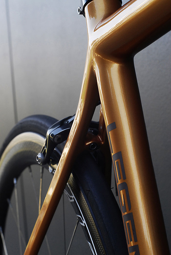 The sinuous curves of Bertoletti's carbon bicycle frames will draw you in for a closer look.