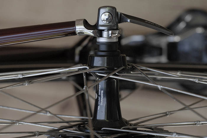 Tied and soldered spokes for extra durability.