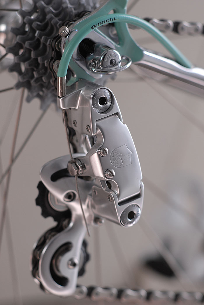 Bianchi celeste cable, found in the original suppliers packet from Rollag AG, the Swiss Bianchi importer in the early 1980's and principal sponsor of the G.S Bianchi Piaggio Swiss team.