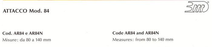 ATTACCO Mod.84 Cod. AR84 e AR84N (Nero -Black)