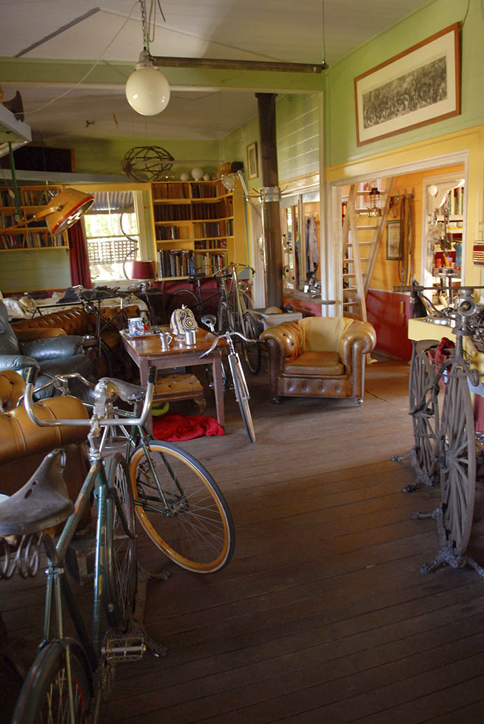 James lived his life surrounded with vintage  bikes.