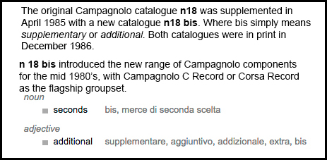The new Campagnolo C-Record 1984 -1986 Gen 1 front derailleur, 0104019 Braze On / 0104018 Clip On, was introduced in Catalogue n18 bis.